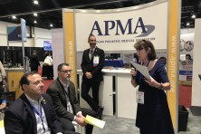 APMA Karen Ravitz speaking at booth